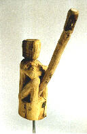 12, wooden sculpture ; height: ~ 90
